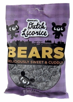 Gustaf's Dutch Licorice - Bears Deliciously Sweet & Cuddly 5.2oz (Pack of 12)