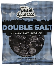 Gustaf's Dutch Licorice - Double Salt Classic Salt Licorice 5.2oz (Pack of 6)