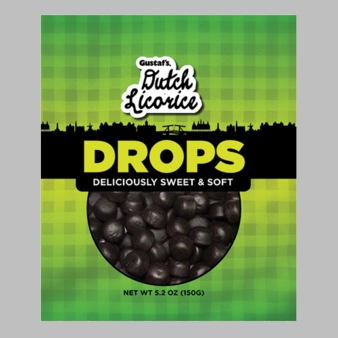Gustaf's Dutch Licorice Drops - Deliciously Sweet & Soft 5.2oz Bag (Single)