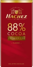 Hachez 88% Premier Cru Classic, Superior Bitter, 100g/3.5oz (Single)