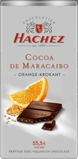 Hachez Milk Chocolate Orange Crunch, D'Maracaibo, 55% Cocoa, 100g/3.5oz (Single)