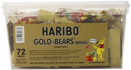 Haribo Gold-Bears Minis, 72-Count Single Box