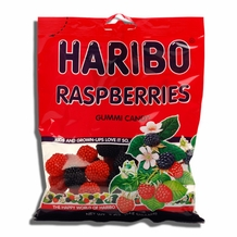 Haribo Raspberries 5oz./142 grams (6 pack)