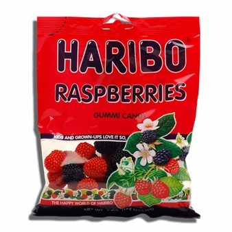 Haribo Raspberries 5oz./142 grams SINGLE