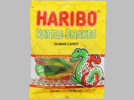 Haribo Rattle-Snakes 5oz./142 grams SINGLE