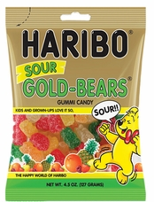 Haribo Sour Gold Bears 4.5oz./127 grams (12 Pack)
