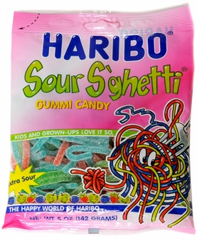 Haribo Sour S'ghetti 5oz./142 grams (12 pack)
