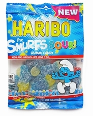Haribo Sour Smurs 4oz./113 grams SINGLE
