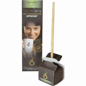 "Hot Chocolate Sticks ""Caramel"", 1.164oz / 33g (6 Pack)"