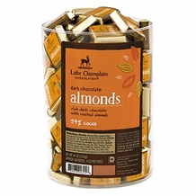 "Lake Champlain Chocolates - ""Almonds Squares"", Dark Chocolate 54% Cocoa, .4 oz."