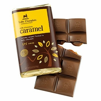 "Lake Champlain Chocolates - ""Caramel"" Filled Bar, Milk Chocolate, 34% Cocoa, 3.25 oz. (Single)"