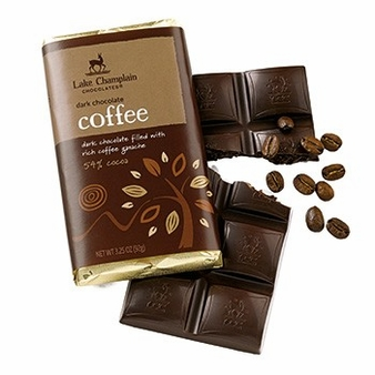"Lake Champlain Chocolates - ""Dark Chocolate Coffee "" Dark Chocolate filled with Rich Coffee Ganache, Dark Chocolate, 54% Cocoa, 3.25 oz. (10 Pack)"