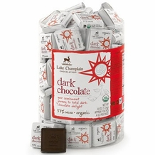 "Lake Champlain Chocolates - ""Dark 55% Organic Squares"", Dark Chocolate 55% Cocoa, .28 oz."
