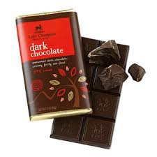 "Lake Champlain Chocolates - ""Dark"" Semisweet Dark Chocolate;Creamy, Fruity, and Floral 54% cocoa, 3 oz/85g (12 Pack)."