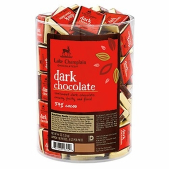 "Lake Champlain Chocolates - ""Dark Squares"", Dark Chocolate 54% Cocoa, .4 oz."