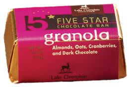 "Lake Champlain Chocolates - Five Star Bar ""Granola"", Dark Chocolate, 1.9 oz (16 Pack)"