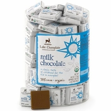 "Lake Champlain Chocolates - ""Milk 34% Organic Squares"", Milk Chocolate 34% Cocoa, .28 oz."