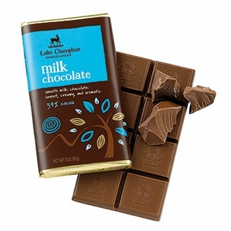 "Lake Champlain Chocolates - ""Milk"" Bar, Milk Chocolate, 34% Cocoa, 3 oz. (12 Pack)"