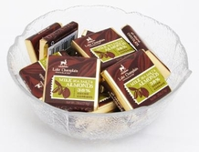 "Lake Champlain Chocolates - ""Milk with Sea Salt & Almonds Organic Squares"", Milk Chocolate 38% Cocoa, .28 oz."