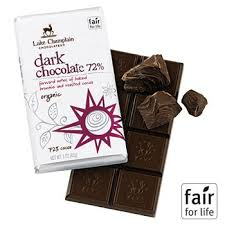 """Lake Champlain Chocolates - """"Organic Dark Chocolate 72%"""" Forward Notes of Baked Brownie and Roasted Cocoa 72% Cocoa, 3oz/ 85g"""
