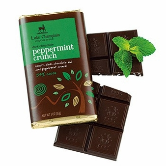 "Lake Champlain Chocolates - ""Peppermint Crunch"" Bar, Dark Chocolate, 54% cocoa, 3 oz. (6 Pack)"