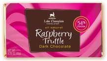 "Lake Champlain Chocolates - ""Raspberry Truffle"" Filled Bar, Dark Chocolate, 54% Cocoa, 3.25 oz. (10 Pack)"
