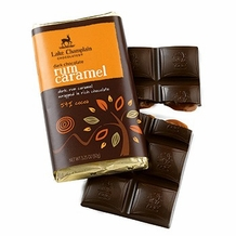 "Lake Champlain Chocolates - ""Rum Caramel"" Filled Bar, Dark Chocolate, 54% Cocoa, 3.25 oz. (10 Pack)"