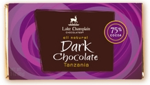 "Lake Champlain Chocolates - ""Tanzania"" Single Origin Bar, Extra Dark Chocolate, 75% Cocoa, 3 oz. (12 Pack)"