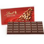 Lindt Chocolate - Bittersweet Chocolate with Chopped Hazelnuts, 100g/3.5oz. (12 Pack)