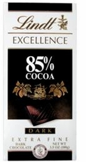 Lindt Chocolate - Excellence 85% Cocoa Dark Chocolate Bar, 100g/3.5oz. (6 Pack)