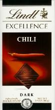 """Lindt Chocolate - Excellence Dark Chocolate with """"Chili"""", 100g/3.5oz. (12 Pack)"""