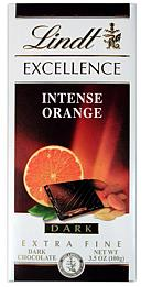Lindt Chocolate - Excellence Dark Chocolate with Intense Orange, 100g/3.5oz. (Single)