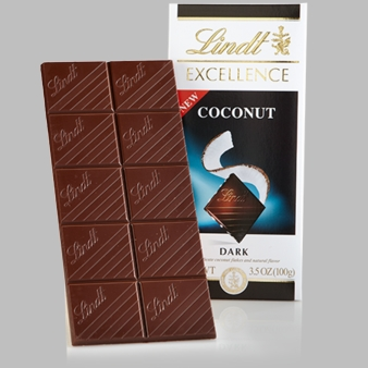"Lindt Chocolate - Lindt Excellence ""Coconut Dark"", 100g/3.5oz.  (6 Pack)"