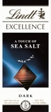 """Lindt Chocolate - Lindt Excellence """"Dark Chocolate with a touch of Sea Salt"""", 3.5oz./100g (6 Pack)"""