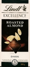"Lindt Chocolate - Lindt Excellence ""Dark Chocolate with Roast Almond Slices"", 3.5oz./100g (Single)"