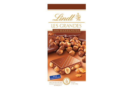 """Lindt Chocolate - Lindt Grandeur """"Milk Chocolate with Whole Hazelnuts"""", 5.3oz./150g (13 Pack)"""