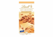 "Lindt Chocolate - Lindt Grandeur ""White Chocolate with Whole Almonds"", 5.3oz./150g (Single)"