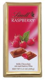 Lindt Chocolate - Milk Chocolate With Raspberry, 100g/3.5oz. (6 Pack)