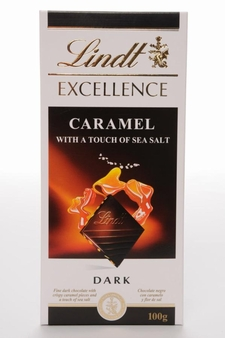 Lindt Excellence Bar, Caramel with a Touch of Sea Salt, 3.5 Ounce (Pack of 12)