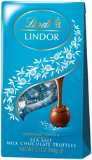 Lindt Lindor Sea Salt Milk Chocolate Truffles 5.1oz Bag (Pack of 12)