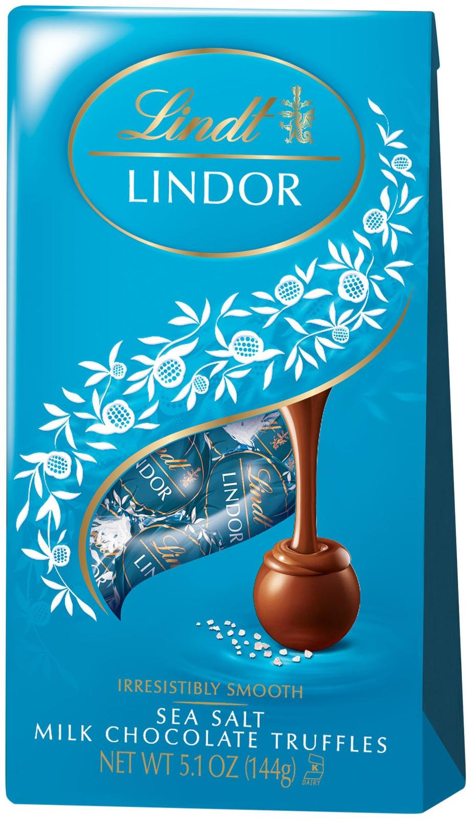 Lindt Lindor Sea Salt Milk Chocolate Truffles 51oz Bag Single Dark Gift