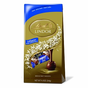 "Lindt Swiss Chocolate - Lindor Truffles ""3 Flavor Dark Assortment Chocolates with a Smooth Filling!"" Dark, Extra Dark and Dark Coffee 21 Piece Bag, 264g/9.3oz. (Single)"
