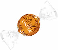 "Lindt Swiss Chocolate - Lindor Truffles ""Caramel Milk Chocolate"", (12 Pack)"