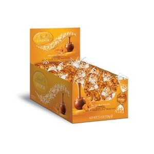 "Lindt Swiss Chocolate - Lindor Truffles ""Caramel Milk Chocolate"", 60 Piece Box (Single)"