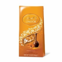 "Lindt Swiss Chocolate - Lindor Truffles ""Caramel Milk Chocolate"", 9.3oz Bag (Single)"