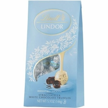 "Lindt Swiss Chocolate - Lindor Truffles ""STRACCIATELLA"" 12 Piece Bag! (6 Pack)"