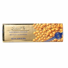 "Lindt Swiss Chocolate - Milk Chocolate with Whole Hazelnuts ""Gold Wrap"" Bar, 300g/10.58oz. (10 Pack)"