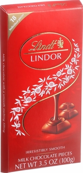 "Lindt Swiss Chocolate - ""Truffle Squares"" Swiss Milk Chocolate With a smooth filling, 100g/3.5oz. (Single)"