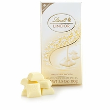 "Lindt Swiss Chocolate - ""Truffle Squares"" Swiss White Chocolate With a smooth filling, 100g/3.5oz. (Single)"