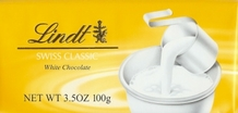 Lindt - Swiss White Chocolate, 100g/3.5oz (Single)